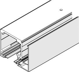 Jeux de rails de roulement pour montage au plafond avec profil verre fixe