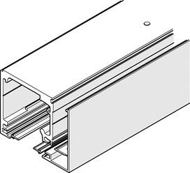 Jeux de rails de roulement pour montage au plafond pour profil verre fixe