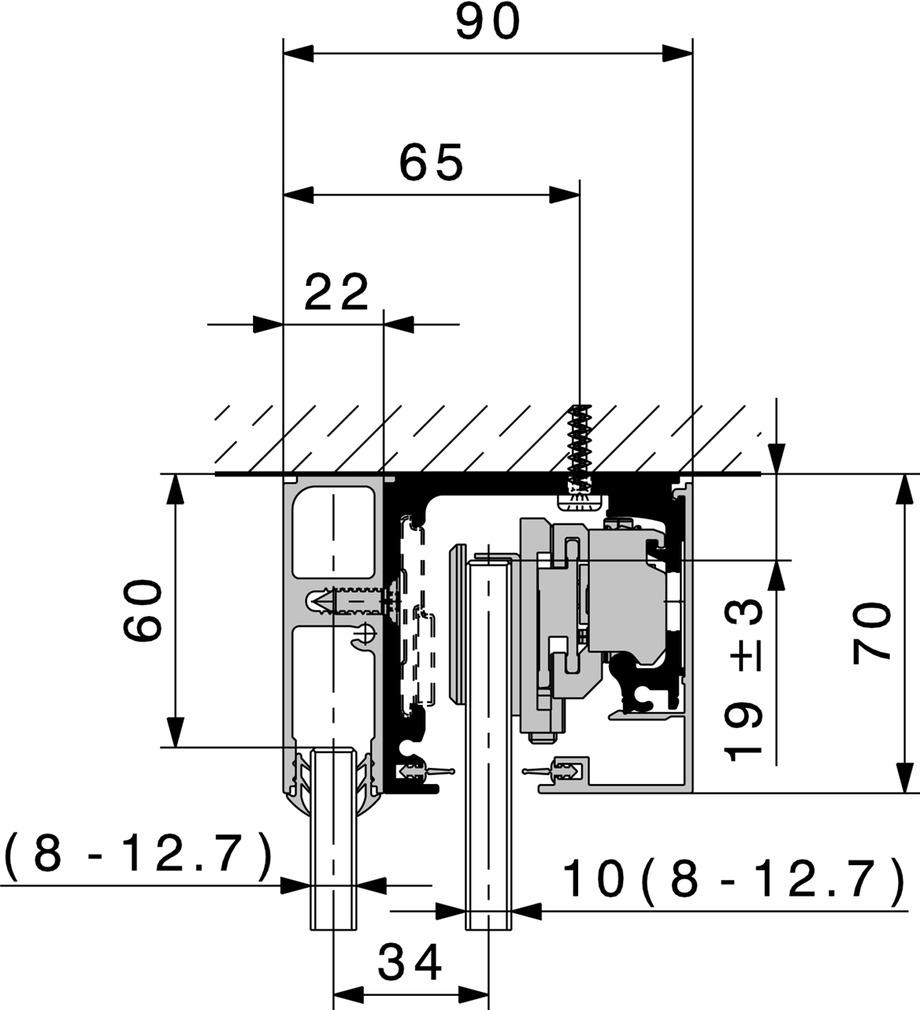 Ferramenta per porte scorrevoli HAWA Purolino-PLUS 80