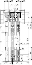 Ferrements pour portes coulissantes HAWA-Telescopic 80/G
