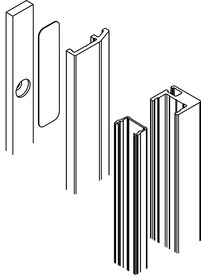 Kit di profili di chiusura da montare alla parete anteriore