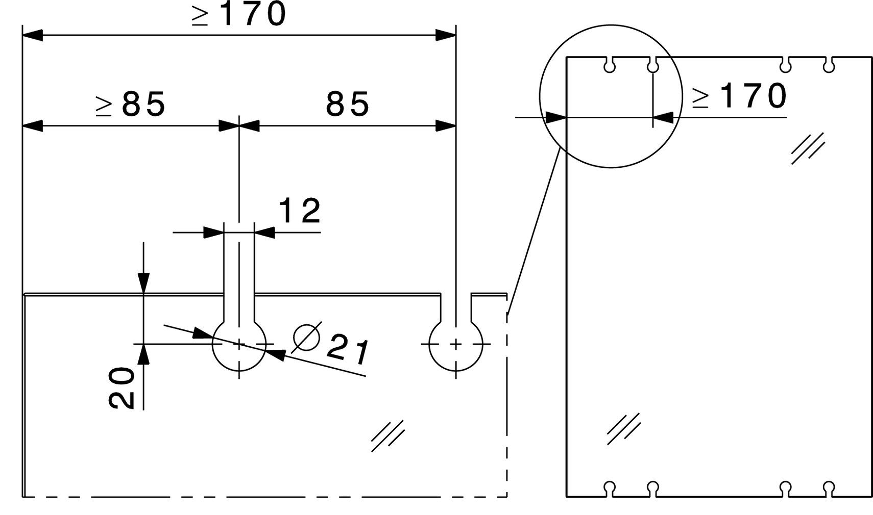 Ferrements pour portes coulissantes HAWA-Junior 250/G