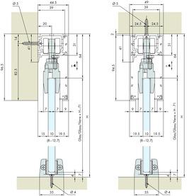 Ferrements pour portes coulissantes EKU-PORTA 100 G