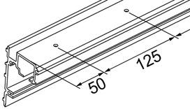 Laufschienen Festglas EKU-PORTA 100 GF