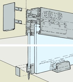 Rotaie per vetro fisso EKU-PORTA 100 GF