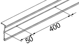 Profil de retenue de porte-verre fixe