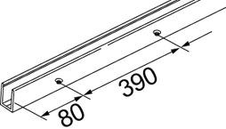 Porte-verre fixe rail de guidage U