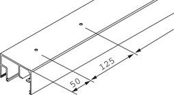 Rails de roulement verre fixe EKU-PORTA 100 GWF