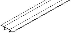 Recouvrement des rails à usage unique pour EKU-PORTA verre/bois et EKU DIVIDO