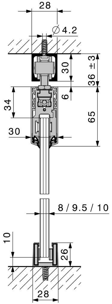 Schiebetürbeschläge HAWA-Junior 40/GL
