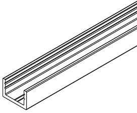 Profil au sol/latéral pour verre fixe HAWA