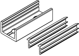 Pièce de fixation au sol ou au mur pour portes en verre fixes HAWA