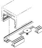 Profils à bétonner HAWA-Adapto 100-150/P pour HAWA-Puro 100-150
