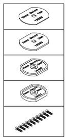 Kit di montaggio per HAWA-Adapto 100-150/P