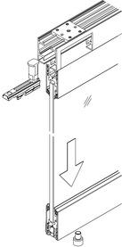 Garniture de vitrage fixe pour HAWA-Aperto 60/GL