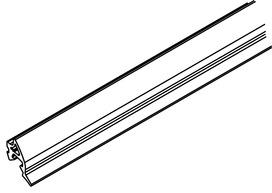 Joint en caoutchouc enclipsable pour profil de recouvrement HAWA