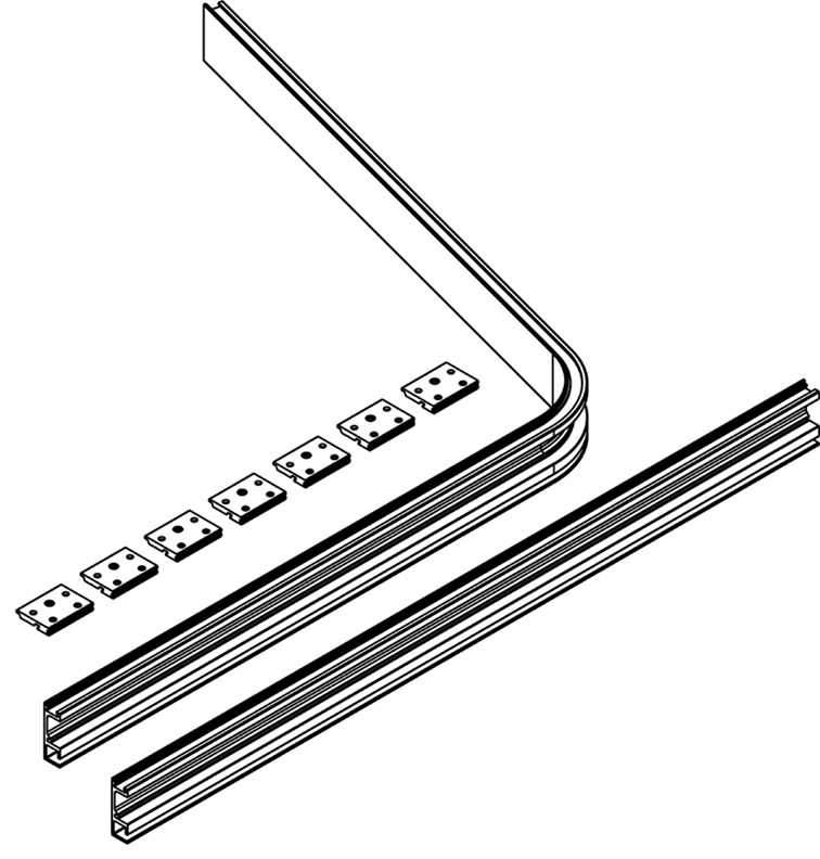 Kit per la fuscia di copertura interna del pacchetto ante