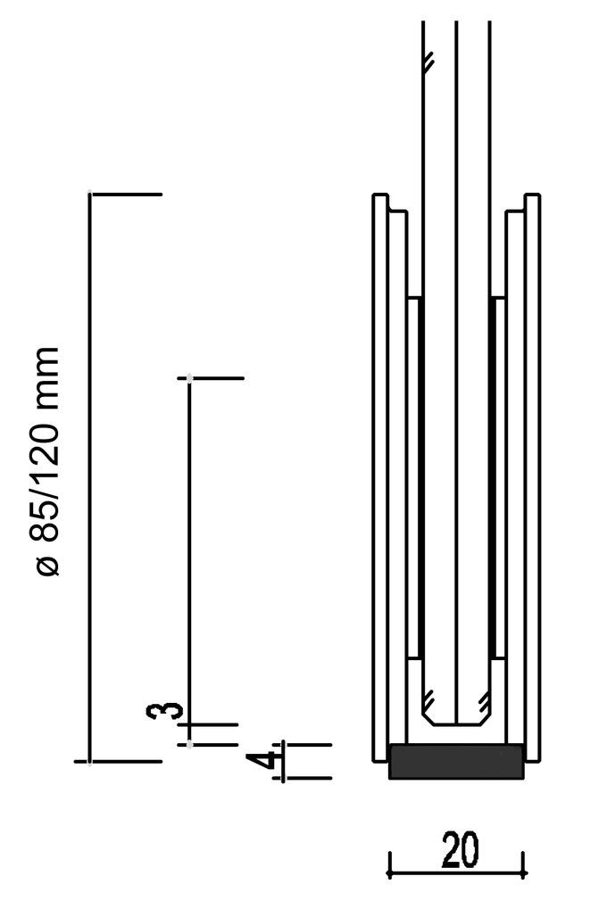 Set complet ferrements pour portes coulissantes SMK 380/390