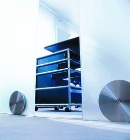 Set complet ferrements pour portes coulissantes ASTEC 400, 120 mm avec guide du bas en polyamide