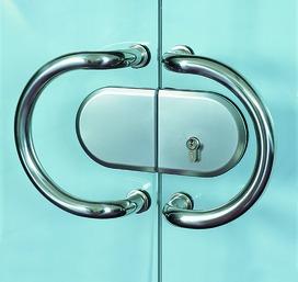 Serrure pour portes coulissantes entièrement en verre HAWA-Toplock