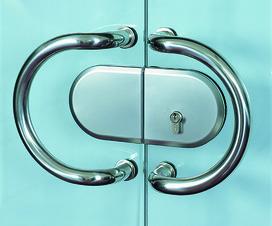 Schiebetürschloss für Ganzglas-Schiebetüren HAWA-Toplock
