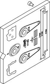 Dima di montaggio/foratura HAWA Toplock