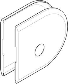 Placche di copertura  per serratura HAWA-Toplock
