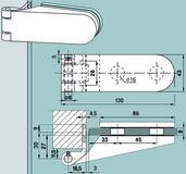 Cerniere per porte in vetro DORMA Studio Rondo