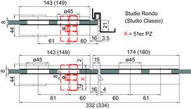 Contre-boite DORMA Studio Rondo
