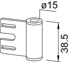 Ficci di telaio in acciaio DORMA
