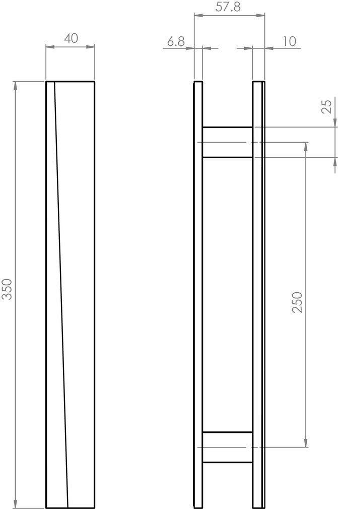 Maniglie per porte scorrevoli in vetro GRIFFWERK VISION GST