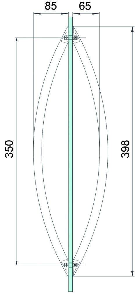 Maniglioni per porte a vento DORMA Arcos