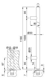 Maniglioni per porte a vento chiudibile KWS 8199