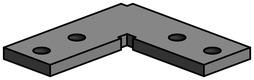 Eckverbinder 90° horizontal LÄNGLE AL-OFFICE-CH