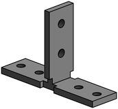 Basis und Top-Frame oder Frame Verbinder LÄNGLE AL-OFFICE-CT