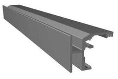 Rotaie VITRIS Portavant 60 montaggio soffitto per vetri fissi