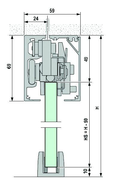 Komplett-Set VITRIS Portavant 120G, Deckenmontage