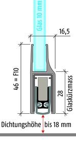Türabsenkdichtungen PLANET KG-F10