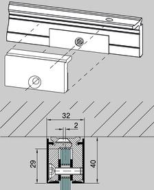 Sistema di profili di collegamento a pareti DORMA