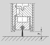 Supplément de prix pour profilé en aluminium avec brosse du joint