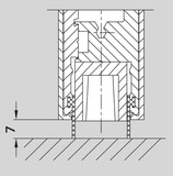 Supplément de prix pour joints en caoutchouc pour plinthes de porte