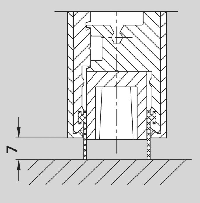 Maggiorazione per guarnizioni in gomma per bracci portanti