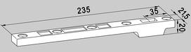 Maggiorazione per braccio inferiore d'acciaio