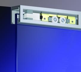 Set complet montage au plafond DORMA AGILE 50, largeur vantail jusqu'à 1200 mm