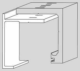 Profilo di copertura DORMA AGILE 50 in caso di montaggio a soffitto