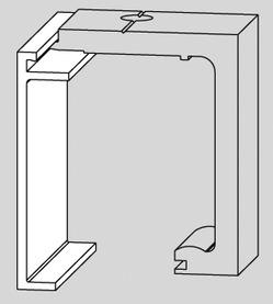Profilo di copertura DORMA AGILE 150 in caso di montaggio a soffitto