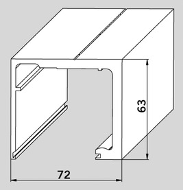 Profili a rotaia AGILE 150 per montaggio al soffitto