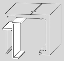 Profil de fixation verre fix AGILE 150