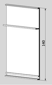 Profilo di rivestimento per montaggio a pressione DORMA
