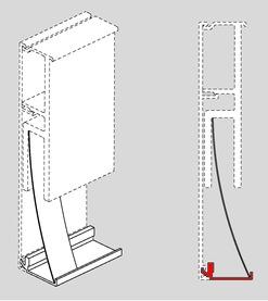 Profil anti-vue inférieur pour DORMA RS 120